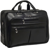McKlein McKleinUSA Rockford 15.6 Leather Fly-Through Checkpoint-Friendly Laptop Briefcase