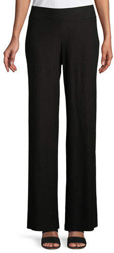 Petite Washable Stretch Crepe Modern Wide-Leg Pants