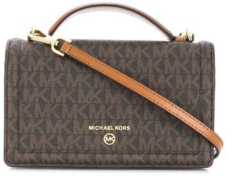 MICHAEL Michael Kors Jet Set monogram-print satchel