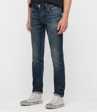 AllSaints Rex Slim Jeans, Mid Indigo