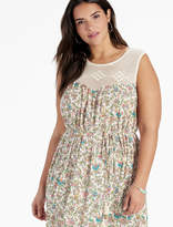 Lucky Brand Crochet Yoke Maxi Dress