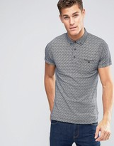 French Connection Ditzy Print Polo Shirt