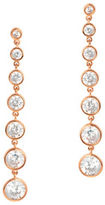 Crislu Cubic Zirconia and 18K Rose Gold-Plated Sterling Silver Drop Earrings