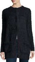 Max Studio Long-Sleeve Knit Cardigan, Navy/Black