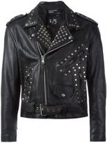 Enfants Riches Deprimes x Cy Twombly studded biker jacket
