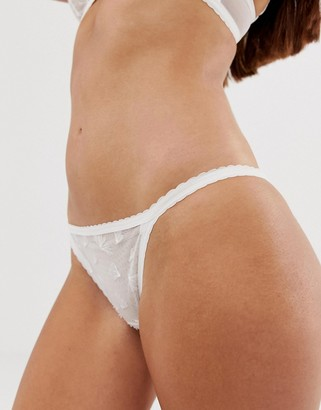 Vanity Fair french lace feder dream transparent boxer-White