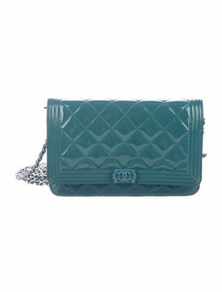 Chanel Boy Wallet On Chain Teal
