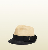 Gucci Natural Straw With Contrast Rim Fedora