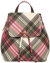 Vivienne Westwood Derby Plaid Print Faux Leather Backpack
