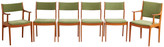 Rejuvenation Set of 6 Mid-Century Teak Dining Chairs