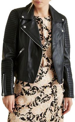 Seed Heritage Leather Biker Jacket