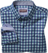 Johnston & Murphy Dark Twill Gingham Shirt