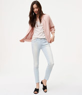 LOFT Modern Step Hem Skinny Jeans in Super Light Wash