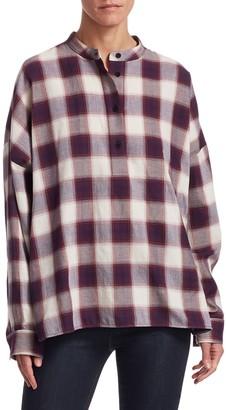Elizabeth and James Flint Oversized Plaid Cotton Shirt