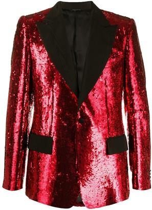 Dolce & Gabbana Embellished Sequin Blazer