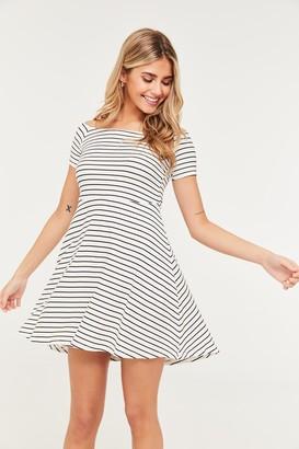 Ardene Basic Off Shoulder Striped Dress