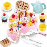 YingYing for kids 54pcs DIY Cutting Birthday Cake Children Kids Baby Early Educational Classic Toy Pretend Play