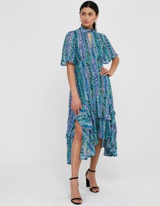 Under Armour Aaliyah Printed Hanky Hem Dress Blue