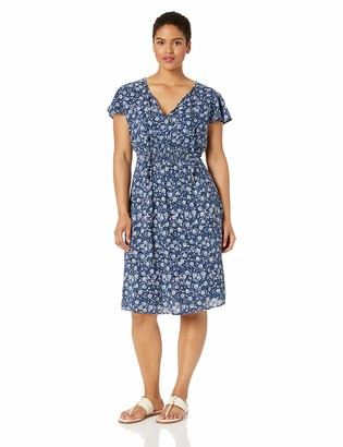 Lucky Brand Women's Plus Size Short Sleeve Olivia Dress