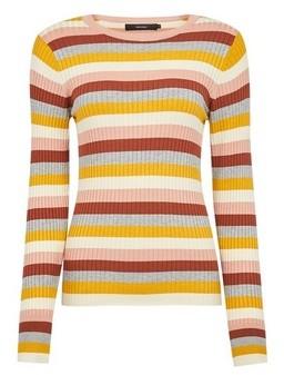 Dorothy Perkins Womens **Vero Moda Multi Coloured Stripe Print Pull On Jumper
