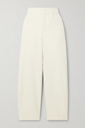 Totême Novara Cropped Cotton-blend Straight-leg Pants - Cream