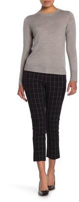Amanda & Chelsea Hannah Windowpane Print Crop Pants (Petite)
