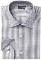 Tailorbyrd Check Print Trim Fit Dress Shirt