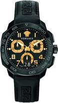 Versace Men's VQC020015 DYLOS CHRONO Stainless Steel Watch with Leather Band
