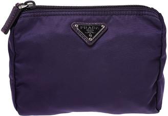 Prada Purple Nylon Mini Zip Pouch