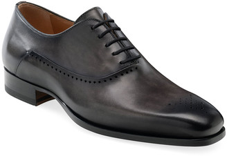 Magnanni Men's Shepard Brogue Burnished Leather Oxford Shoes