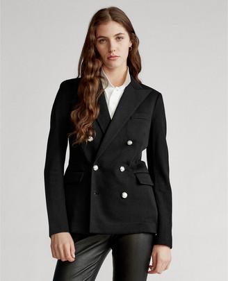 Ralph Lauren Knit Double-Breasted Blazer