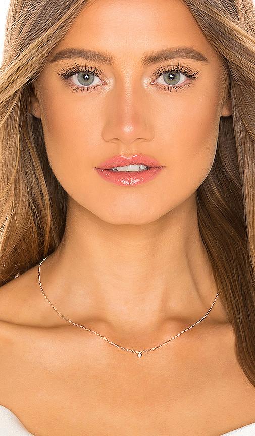 Ef Collection Single Diamond Bezel Chain Necklace
