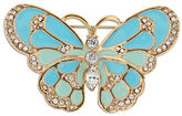 Jones New York Boxed Epoxy and Glass Stone Butterfly Pin
