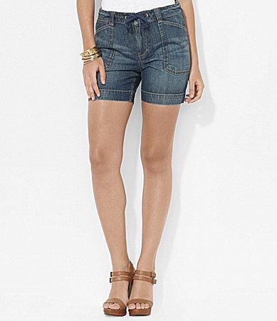 Lauren Ralph Lauren Drawcord Denim Shorts