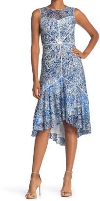 Taylor Printed Lace Lattice Dress