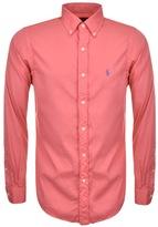 Ralph Lauren Slim Beach Twill Shirt Pink