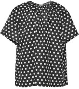 Rochas Polka-Dot Cotton And Silk-Blend Twill Top