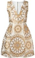 Alice + Olivia Alice+Olivia mandala brocade dress