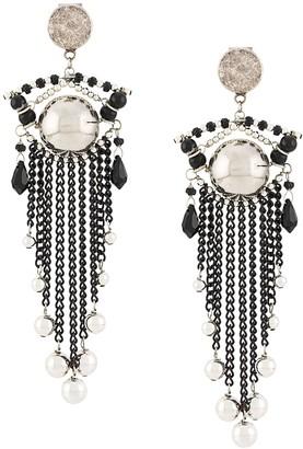 Thierry Mugler Pre-Owned 1980s spheres chandelier earrings