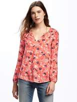 Old Navy Relaxed Floral Shirred Blouse for Women