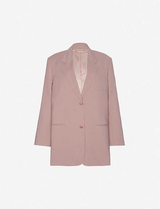 Frankie Shop Oversized single-breasted stretch-woven blazer