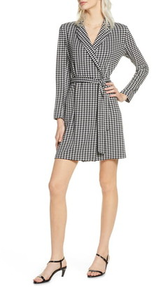 French Connection Sadira Houndstooth Print Wrap Dress
