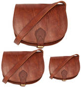 SAM. Ismad London Leather Saddle Bag