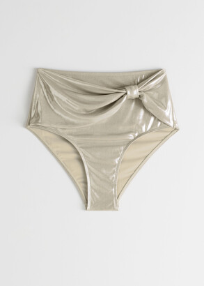And other stories High Waisted Metallic Bikini Briefs