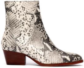 Hudson Beryl Snake Print Boots - 36/ UK 3