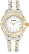 Versace Versus Tokyo Crystal 38 White and Gold Stainless Steel Women's Watch