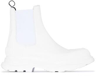 Alexander McQueen Flatform Sole Ankle Boots