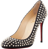 Christian Louboutin Fifi Spikes Red Sole Pump, Black