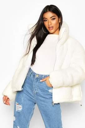 boohoo Teddy Faux Fur Puffer Jacket