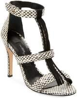 Jerome Dreyfuss Women's Python Leather Fringe Bea Sandal